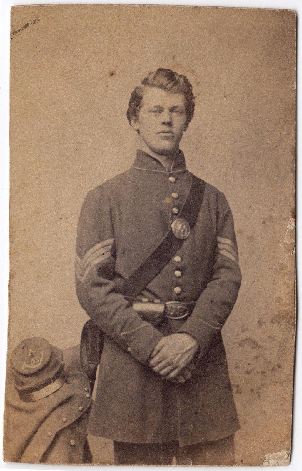 Civil war cdv of an unknown connecticut sergeant civil