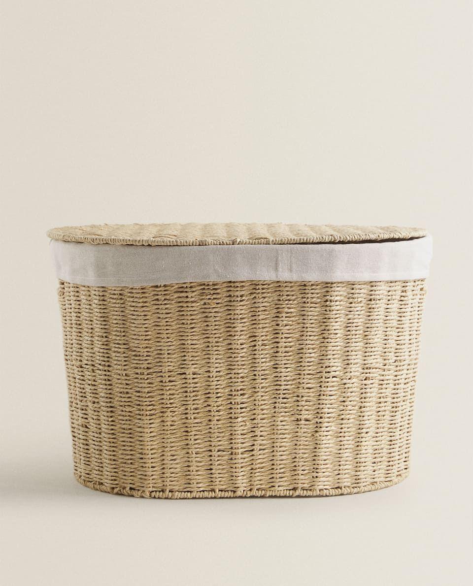 Fabric Lined Basket Baskets And Furniture Bathroom Zara Home United Kingdom In 2020 Zara Home Pallet Tv Stands Zara Home Canada