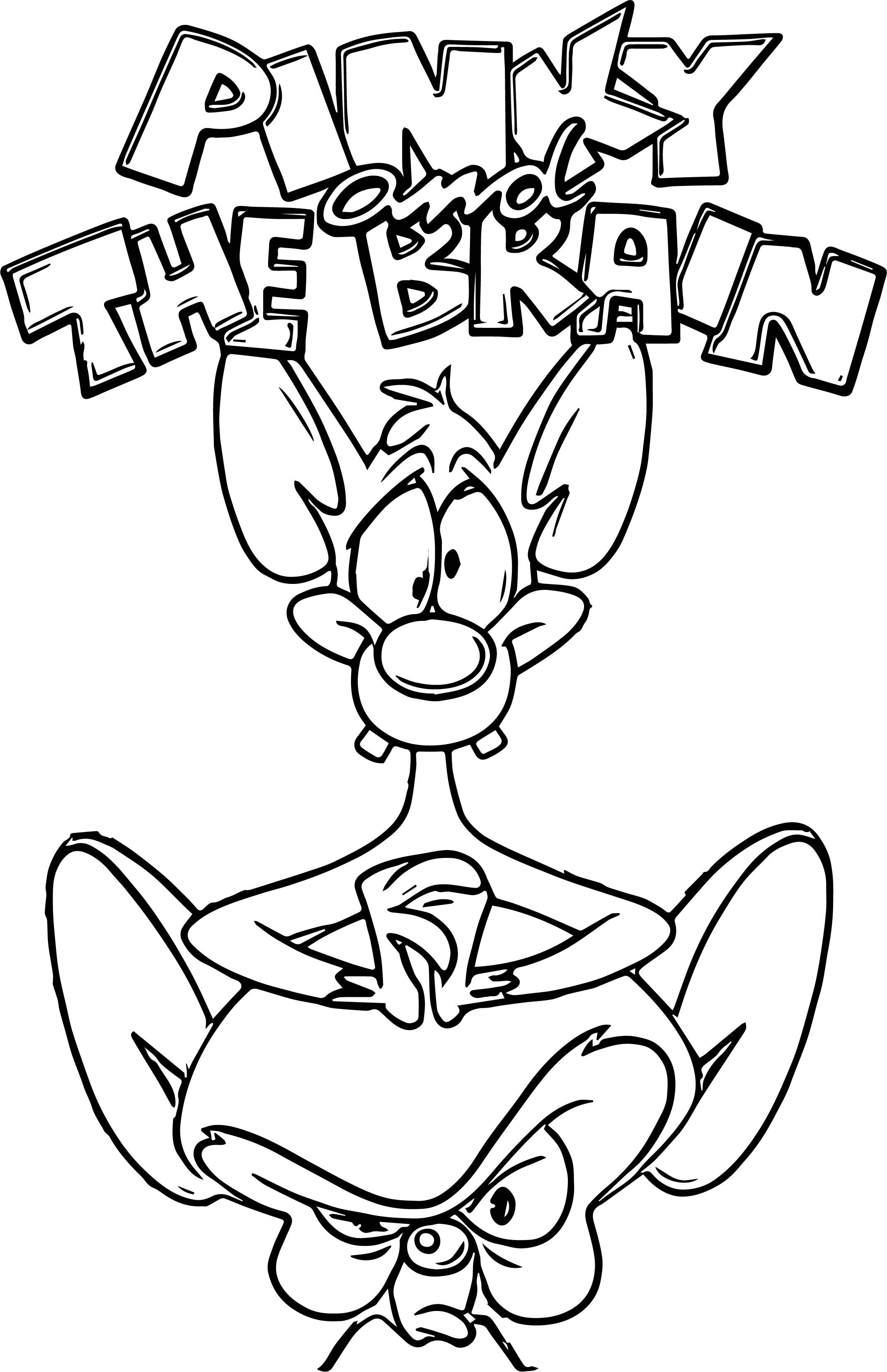 Pinky And The Brain Coloring Pages Best Coloring Pages For Kids In 2021 Cartoon Coloring Pages Monster Coloring Pages Disney Art Drawings