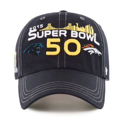 Carolina Panthers vs. Denver Broncos  47 Super Bowl 50 Dueling Woodall  Clean Up Adjustable Hat - Black 5600bfbc7