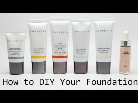 How to DIY Your Foundation with the NEW Cover FX Custom Cover ...
