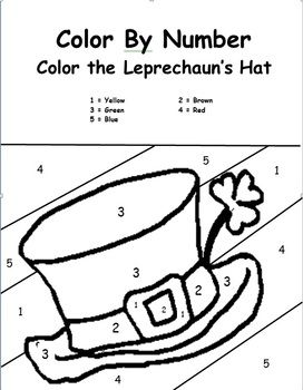 St Patty S Day Color By Number Freebie Kindergartenklub Color By Number One Marching With Picture