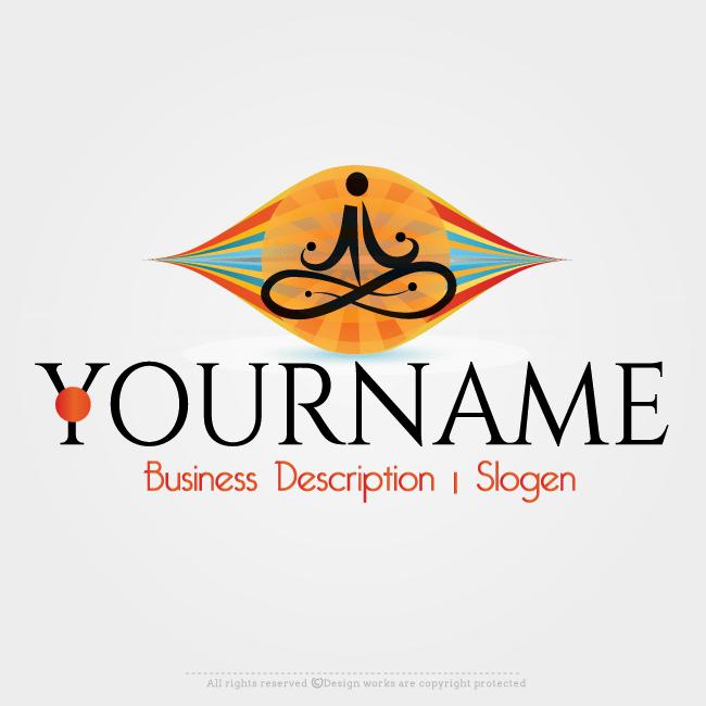 Online Logo Creator Design Yoga Logo Template Online Logo Creator Online Logo Logo Design Software