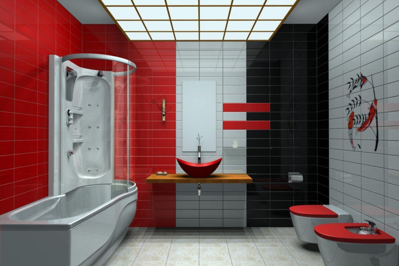 Awesome 30 Fabulous Red Black And White Bathroom Decor Ideas Https Hroomy Com Bathroom 30 Fabulous Red B Red Bathroom Decor Bathroom Red White Bathroom Decor