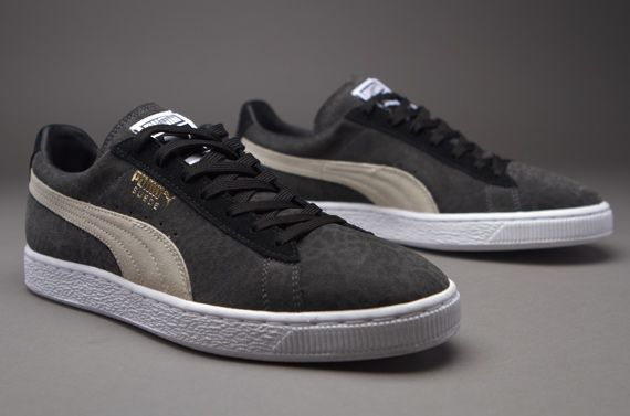 Puma Suede Animal -Dark Shadow-White-Black - Mens Shoes - Pro-Direct Select 9be2829826c1
