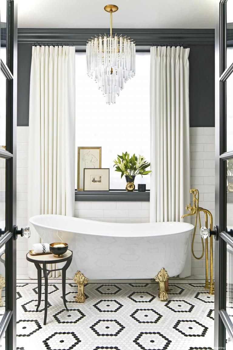 Elegant Black and White Bathroom Ideas | Bathroom tile ...