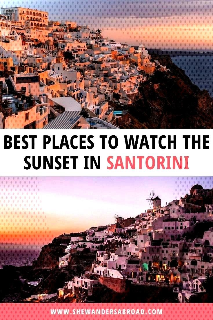 to Watch the Sunset in Santorini | She Wanders Abroad I'm sure you've already heard that the sunset