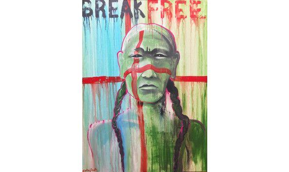 Break Free I Acrylic on canvas I 48\
