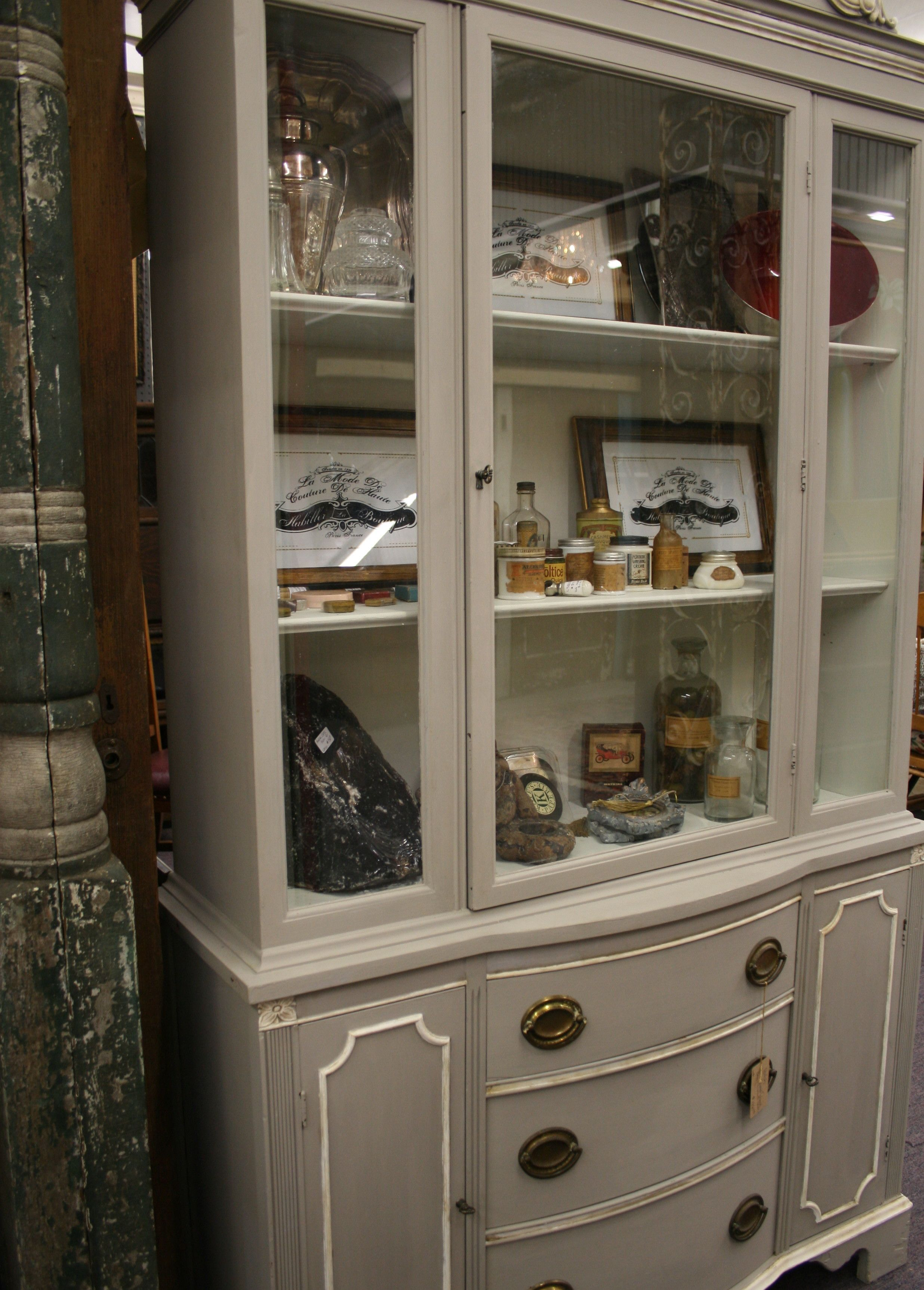 lea grey china annie sloan paris interiors cabinet