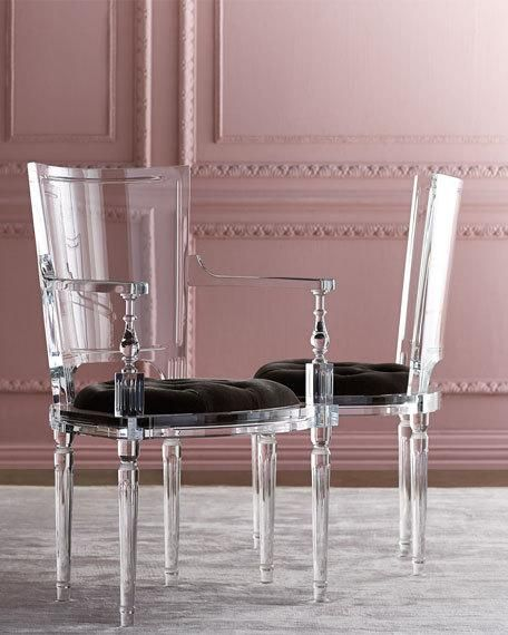 Acrylic Arm Chair. So Expensive And So Fantastic. If I Ever Win The Lottery.