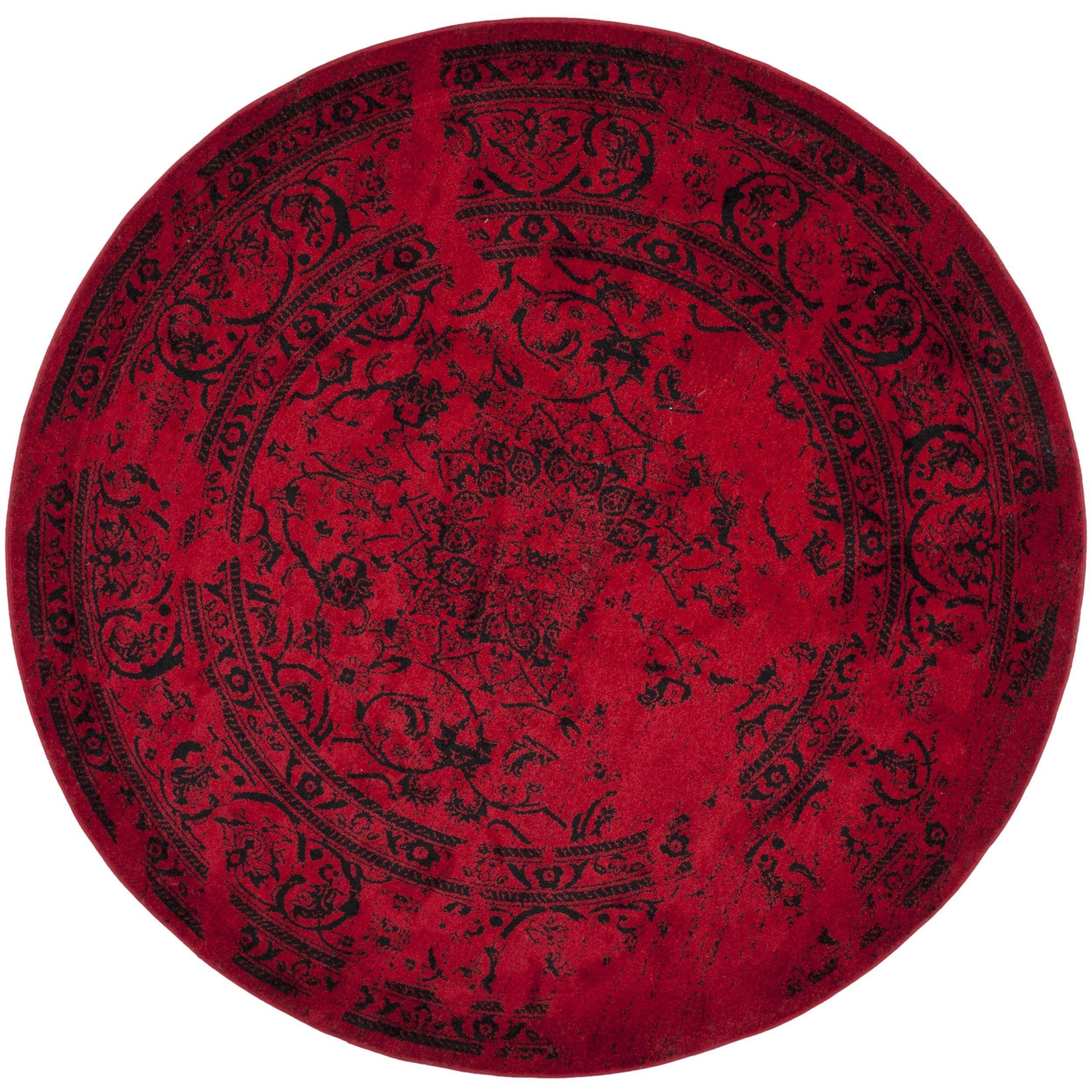 Safavieh Adirondack Vintage Overdyed Red Black Rug 6