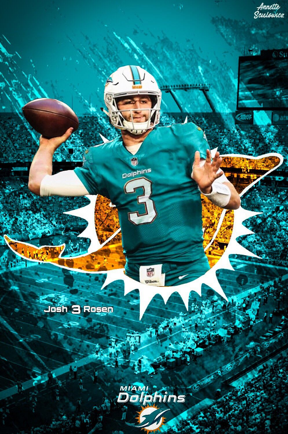 Pin By Michael Henderson On Nfl Dolphins Football Dolphins Miami Dolphins