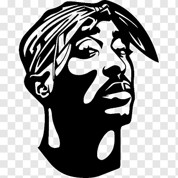 Sticker Wall Decal Paper Rapper Tupac Free Png Silhouette Art Tupac Art Silhouette Drawing