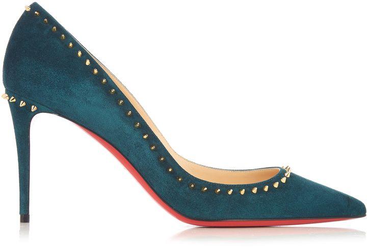new style dbd17 e447e CHRISTIAN LOUBOUTIN Anjalina 85mm suede pumps   Womens Shoes ...