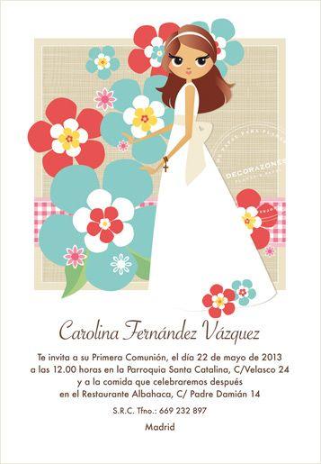 Pin de Ananda Ibar en Primera comunión Pinterest Tarjetas de