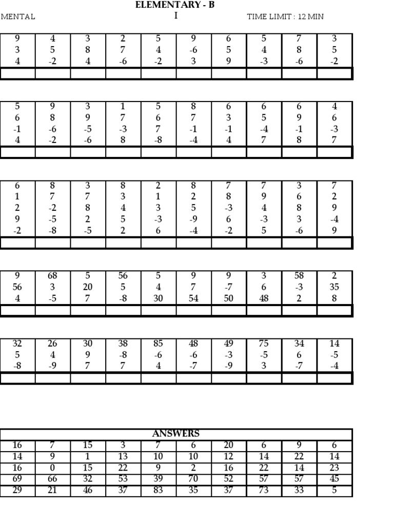 abacus maths level 2 worksheets ucmas elementary aucmas ...
