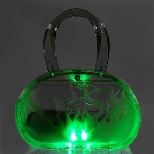 """Image of """"Root of All Evil"""" Lucite Bag. You will never have to look for your bag again...it will light the way>"""