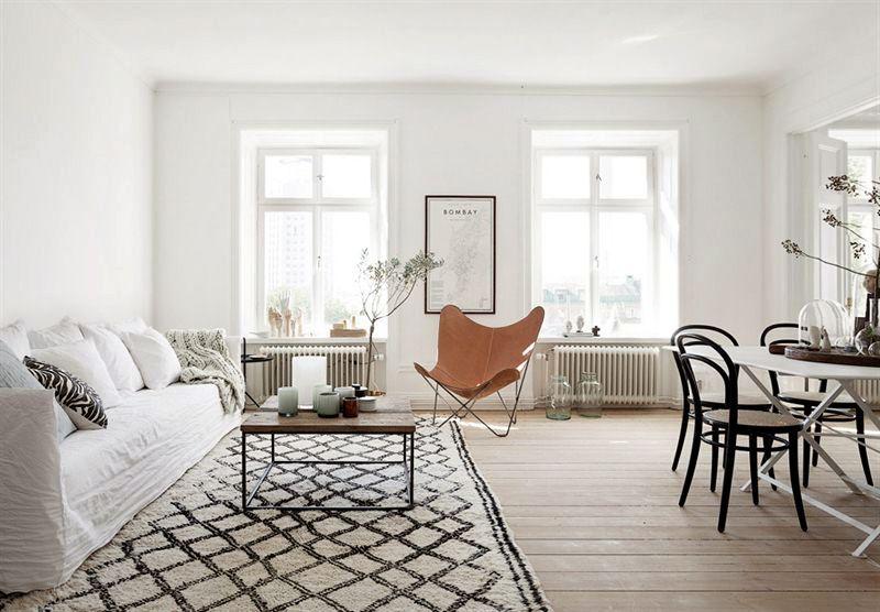 Manchmal ist weniger mehr, und eine der schönsten Reduktionen in - nordische wohnzimmer