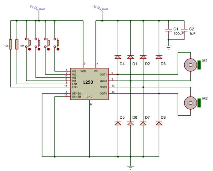 Dc Motor Bridge Drive Circuit Diagram Powersupplycircuit Circuit
