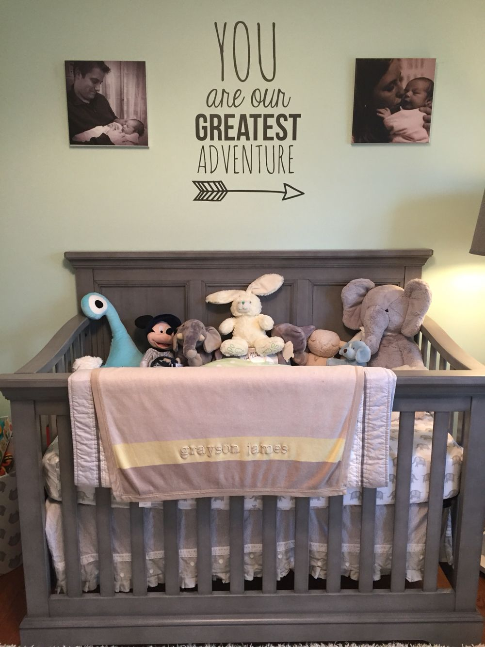 Our Little Baby Boy S Neutral Room: Gender Neutral Nursery In Mint, Grey & Yellow. You Are Our