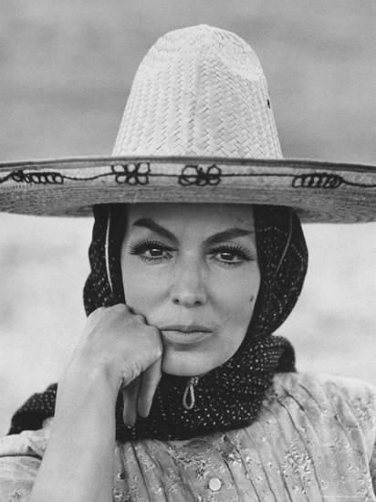 Mexican Actress Maria Felix on Set New Picture Juana Gallo Premium Photographic Print by Allan Grant at AllPosters.com