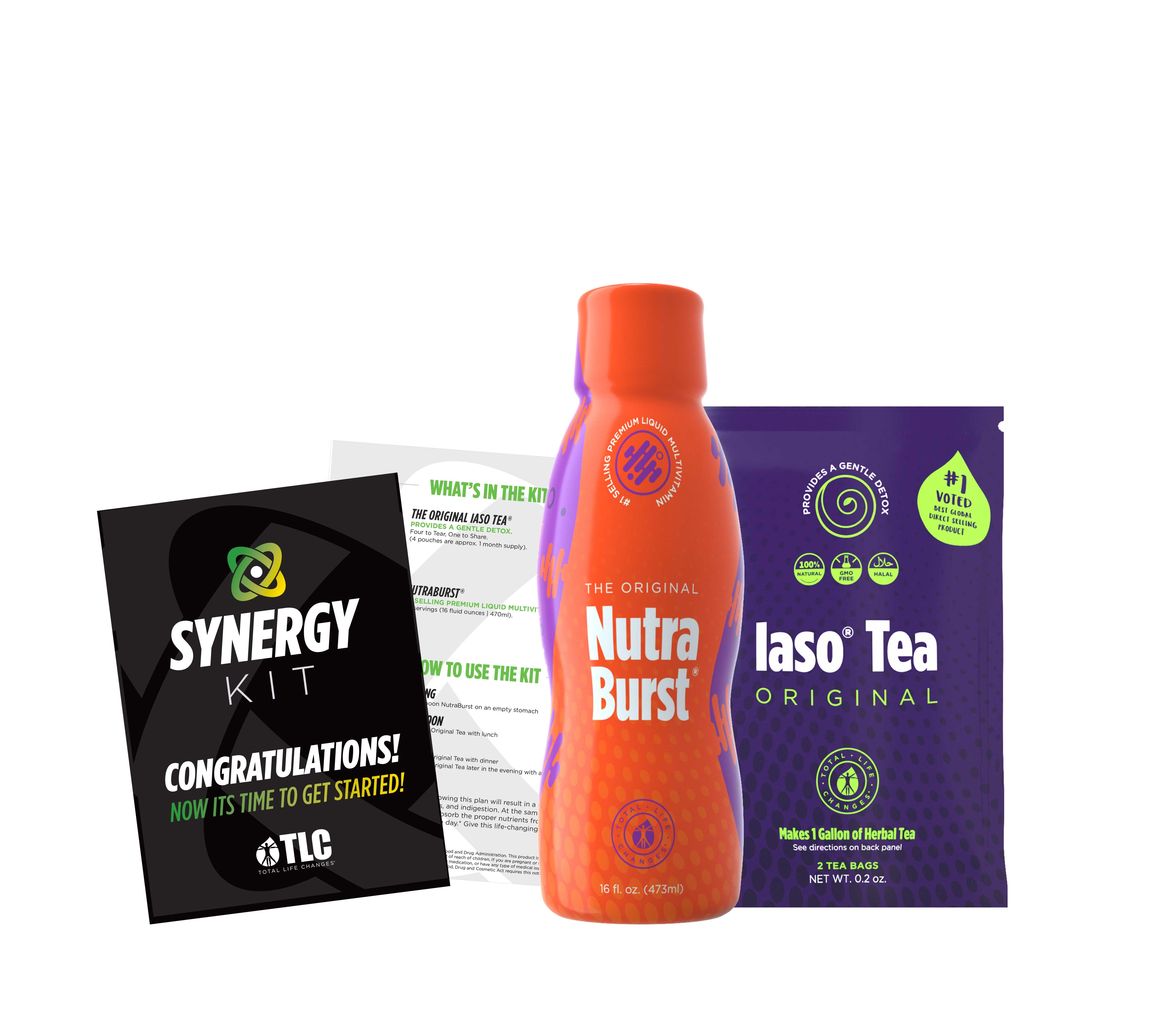 The Synergy Kit Contents Include 1 Month Supply Of Nutraburst 1 Month Supply Original Iaso Tea Plus One Free In 2020 Total Life Changes Iaso Tea Life Changes