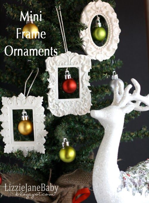 Mini Picture Frame Ornaments Christmas Cooking Stuff Pinterest