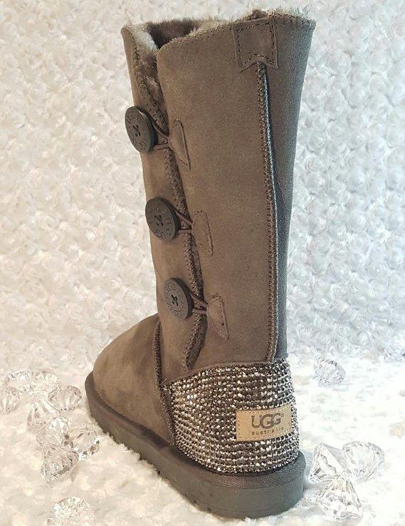 3358b51e963 Bling Ugg Bailey Button Triplet II Boots, Women's Custom Ugg Boots ...