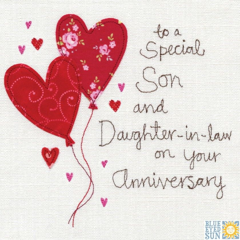 A Son and DaughterInLaw Anniversary Card Birthday
