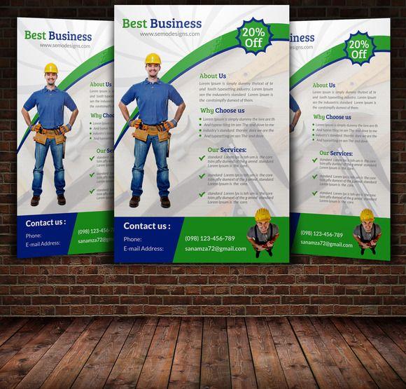 Handyman  Plumber Services Flyer  Psd Templates Flyer Template