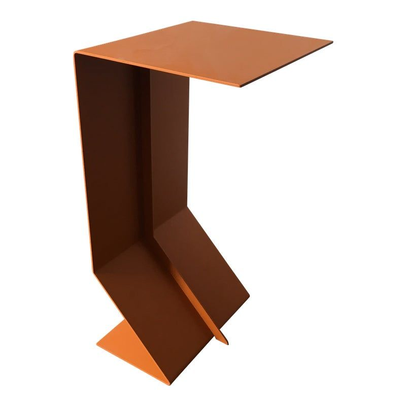 Contemporary Moroso Orange Steel Side Table Contemporary Side