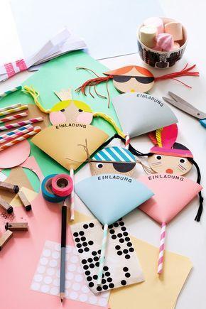 kindergeburtstag einladungskarten selber machen - prinzessin, Hause und Garten