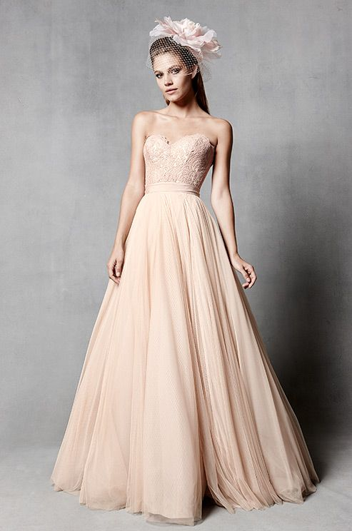 Pretty Blush Wedding Dress From Watters Spring 2017 Bridal Collection