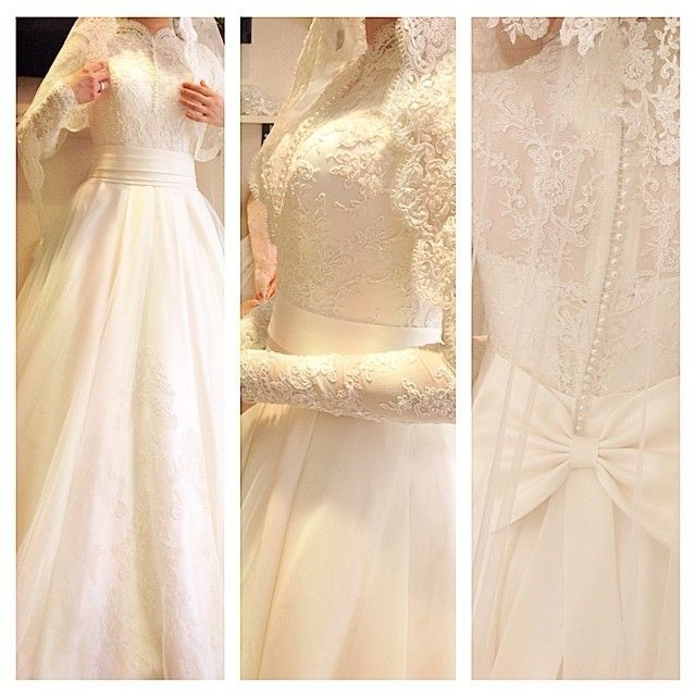 Pin by Samira Satti on Wedding gowns | Hijab wedding dresses