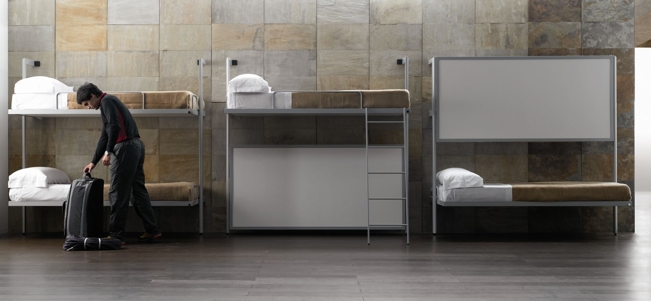 Wall Mounted Folding Bunk Beds Http Bottomunion Com Pinterest