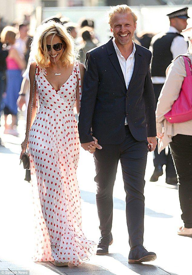 5549343d2e Myleene Klass locks lips with handsome beau Simon Motson | Business  Lifestyle | Yellow maxi dress, Dresses, Fashion