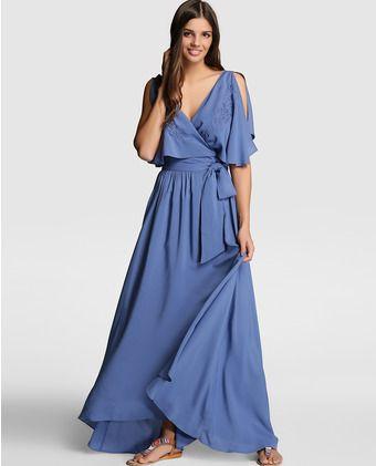 b7789d252 Vestido midi de mujer Tintoretto en azul