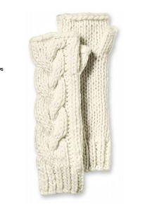 Chunky Cable Fingerless Gloves | Eddie Bauer