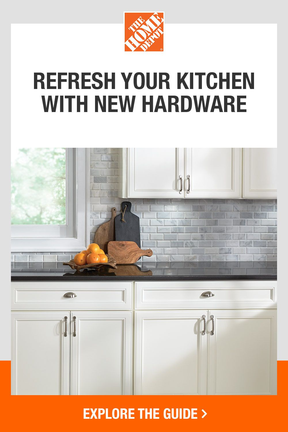 Give your kitchen cabinets a refresh with help from The Home Depot. Our DIY guide will show you step-by-step installation instructions, so you can easily transform your spaces with new hardware. Click to start your project with The Home Depot.