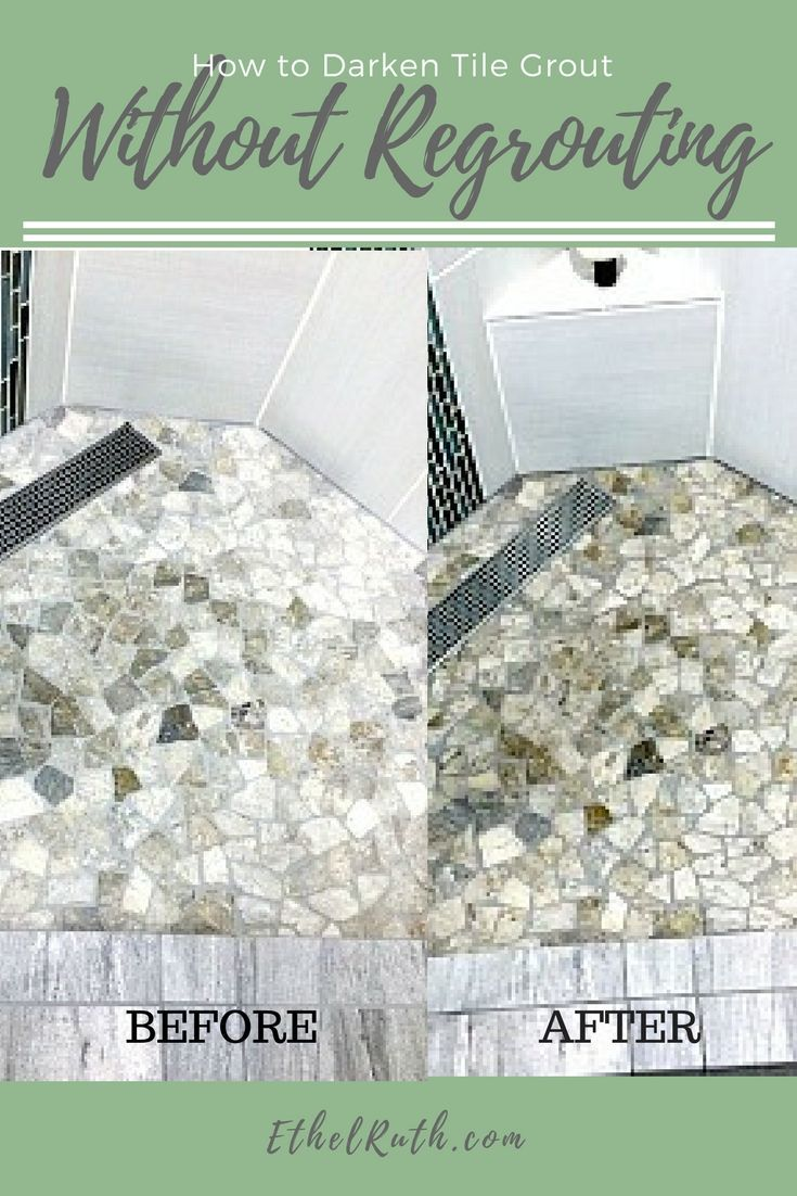 How to Darken Tile Grout and Natural Stone Using Stone Enhancer ...