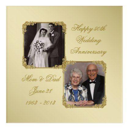 50th Golden Wedding Anniversary Photo Wall Art | Wedding anniversary ...