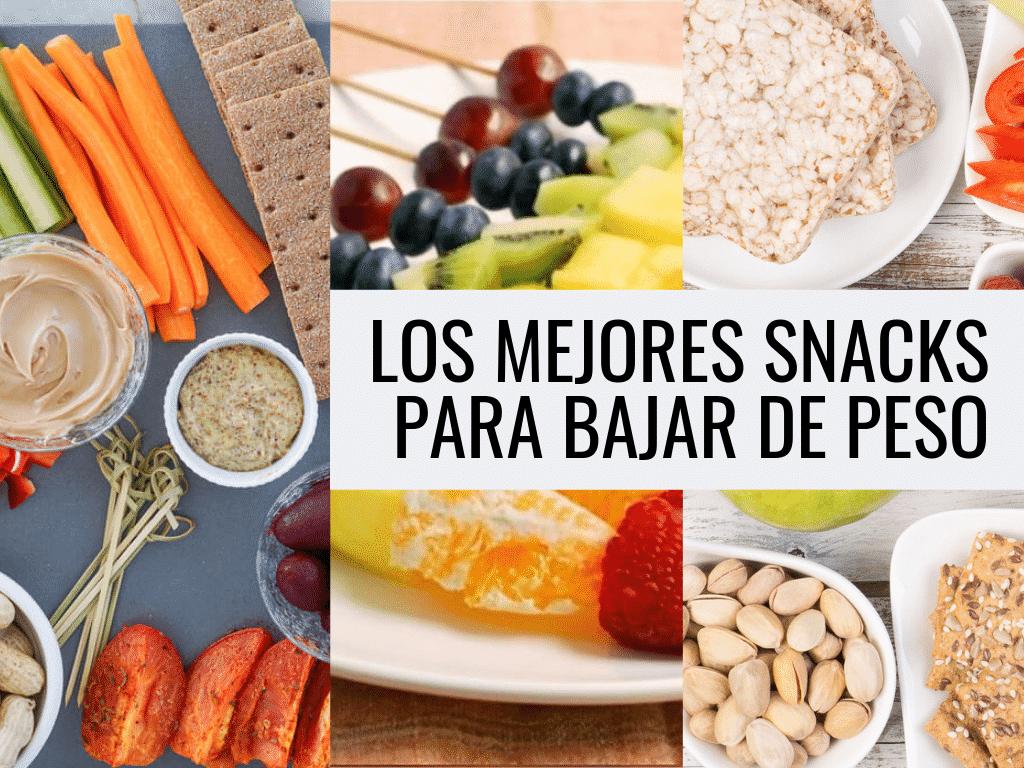 Snacks sanos para bajar de peso