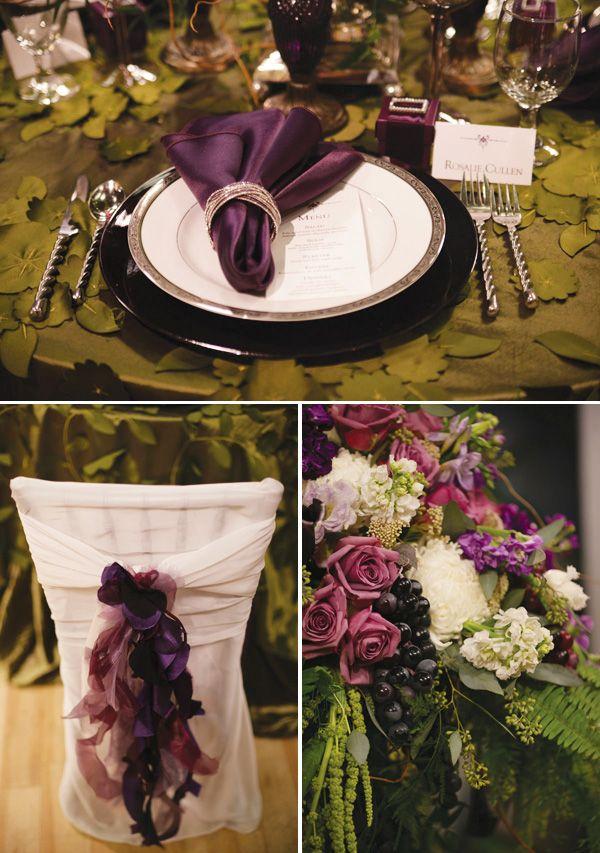 twilight inspired wedding tablescape twilight fan