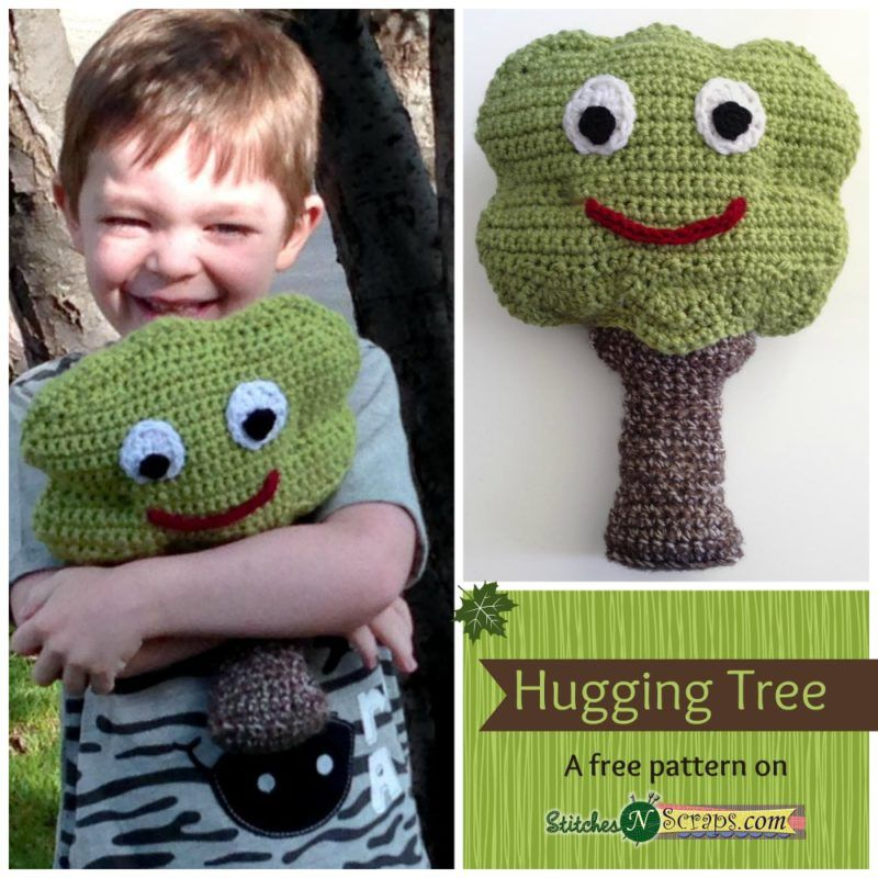 Free Crochet Pattern Hugging Tree From Stitches N Scraps Gift