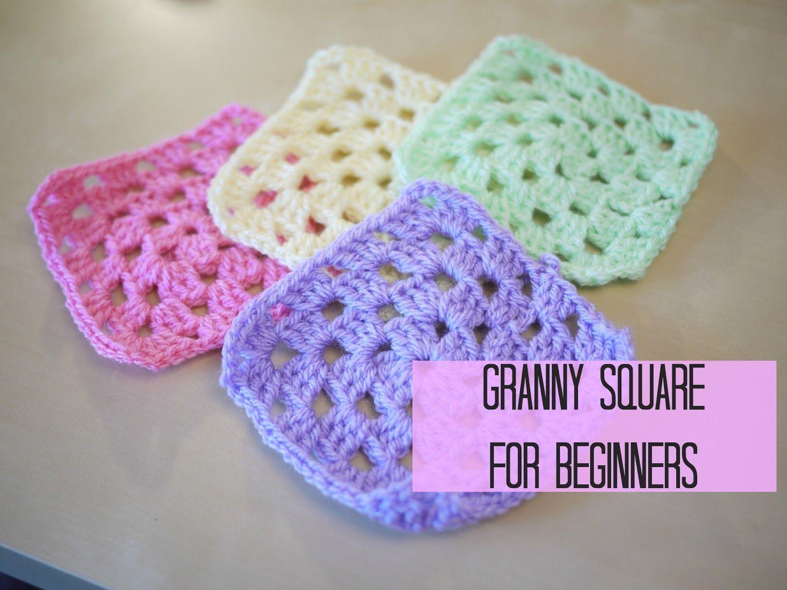 Written Instructions Crochet Granny Square Tutorial -4737