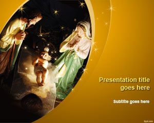 Free nativity powerpoint template free powerpoint templates celebrate the birth of jesus christ and teach others regarding the two different accounts of his birth in the bible through free nativity ppt template toneelgroepblik Gallery