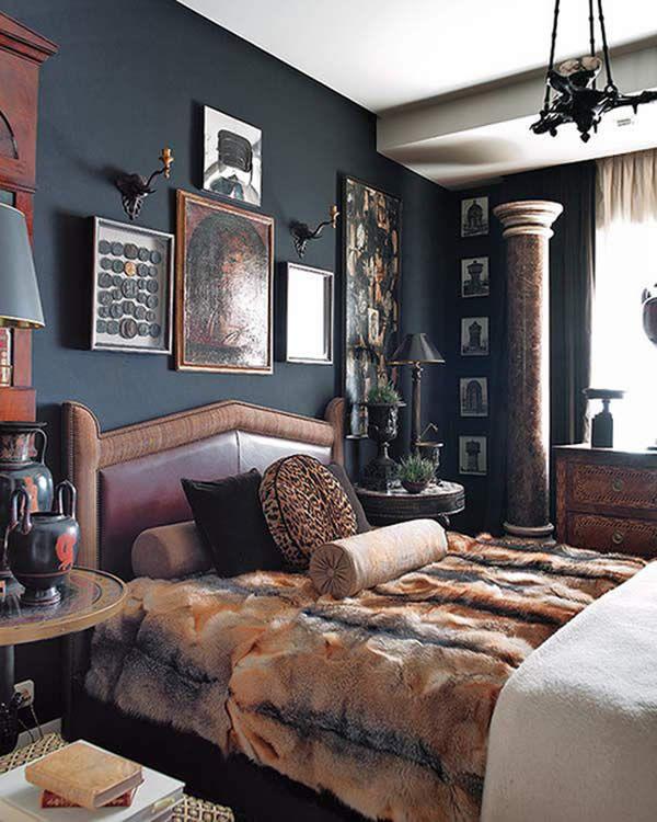 Cozy Dark Living Room: Dark And Cozy Bedroom From Nuevo Estilo