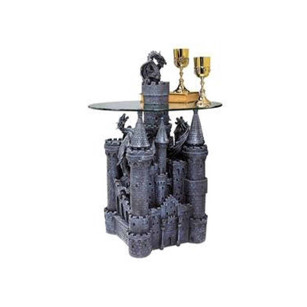 Gothic Medieval Mystical Dragon Castle Coffee Table New FAIRY