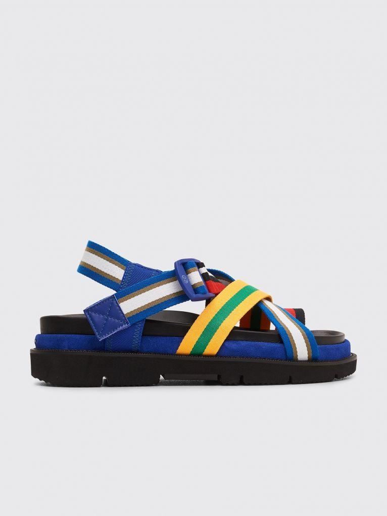 5aa2037b6dd9 Maison Margiela - Striped Straps Sandals Multi Color