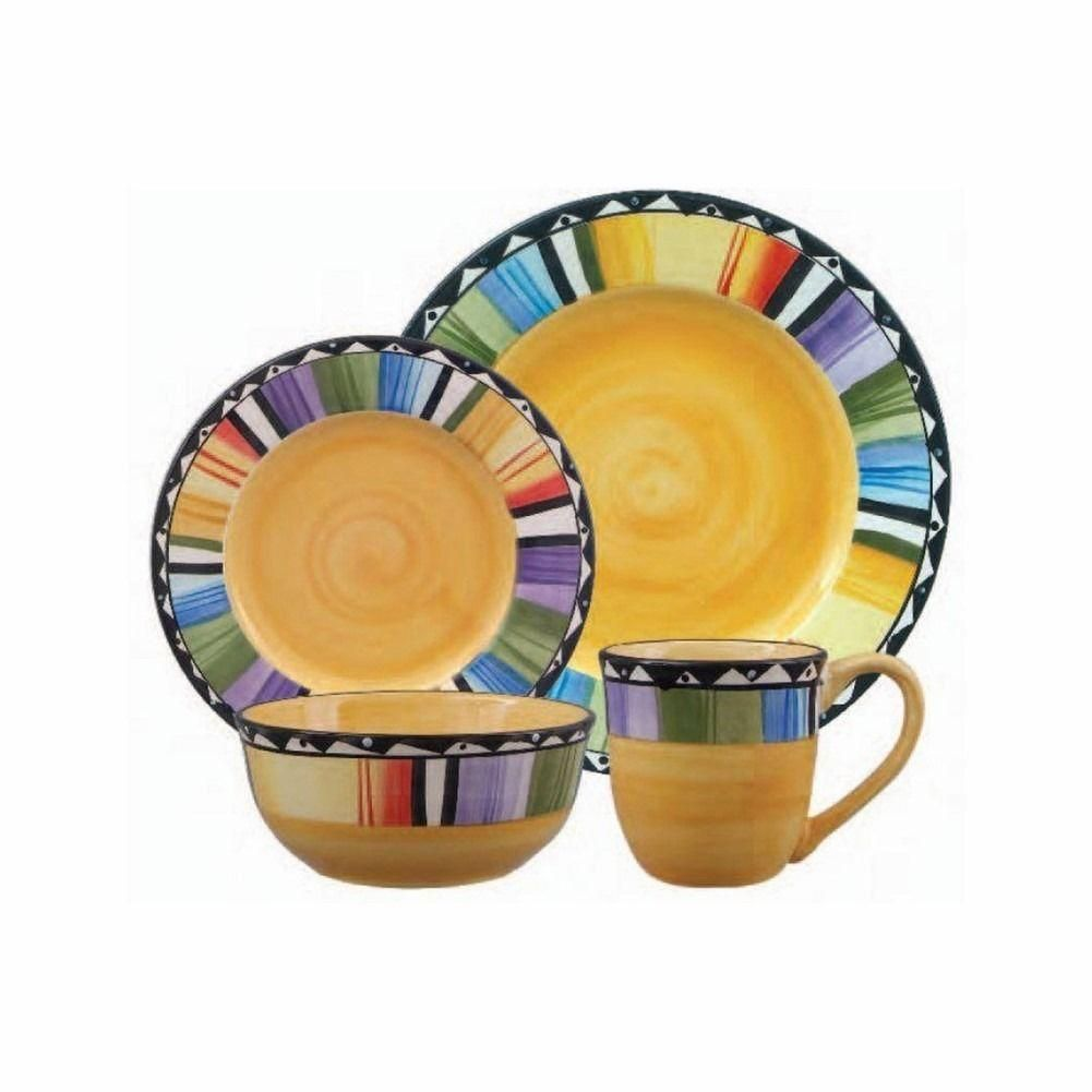 gibson fandango 16-piece dinnerware set   dinnerware and products